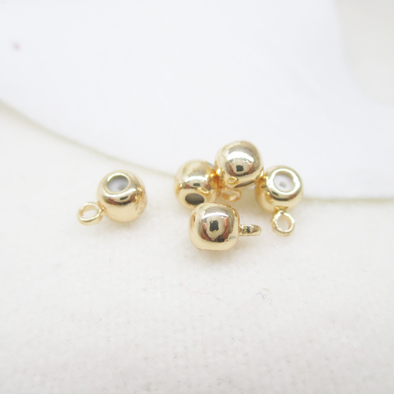 24K rose gold plated Spacer rubber septa adjustment beads rose gold rubber head charms 6*4mm 30pcs DIY jewelry accessories(China (Mainland))
