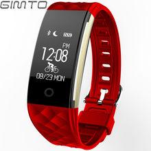 Bluetooth браслет, умные женские часы, спортивные светодиодный часы, цифровые наручные часы, пульсометр, кровяное давление, монитор сна для Android ...(China)