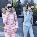 2016 New Arrival Winter Warm Hooded cotton Jackets and parkas For women Warm Zipper Women's Thick Wadded Jacket Faux Fur Coat