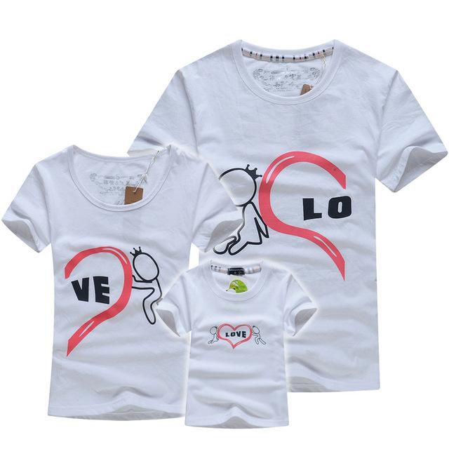 Розничная хлопок одежды семьи футболки отец и сын матери-дочери семьи соответствующие ...