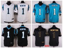 100% Stitiched,Carolina Panthers Cam Newton Elite for mens(China (Mainland))