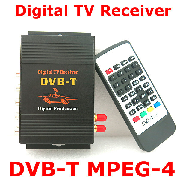 Free shipping M-618 Car DVB-T MPEG-4 Dual tuner HD Digital TV receiver Compatible with DVB-T(SD)MPEG2/DVB-T MPEG4 AVC perfectly(China (Mainland))