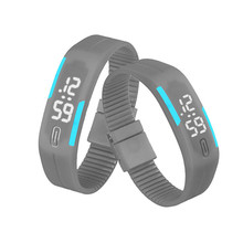 Roman Fashion Men Candy Silicone Strap Touch Womens Rubber LED Watch Date Sports Bracelet Digital Wrist