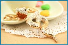 2014 latest design cute snake animal cheap custom keychains 10pcs/lot(China (Mainland))