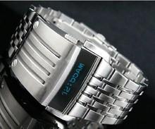 Shipping 100 Original Oled Watch Steel Men s Watches Binary Fashion Creative Man Boys Personality Military