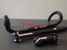 Full Carbon road handlebar Bicycle parts superlight cycling bike handlebar 400 420 440mm x 31.8mm+seatpost+stem