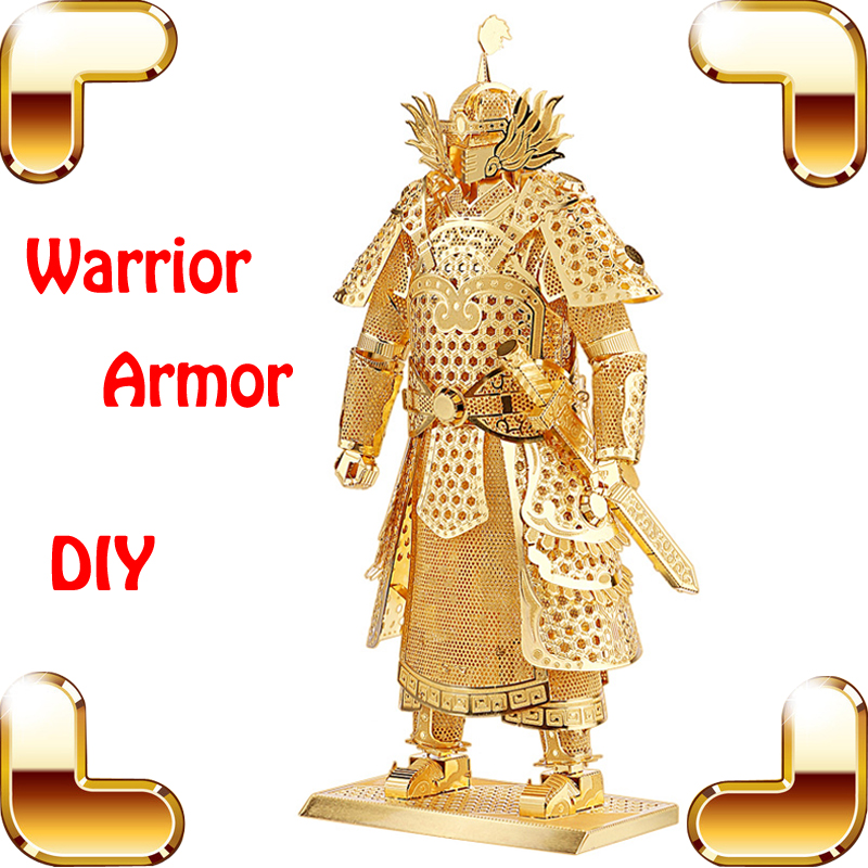 Christmas Gift Warrior Armor 3D Metal Model General Battle Design House Collection Decoration DIY Luxury Alloy Built Toys(China (Mainland))