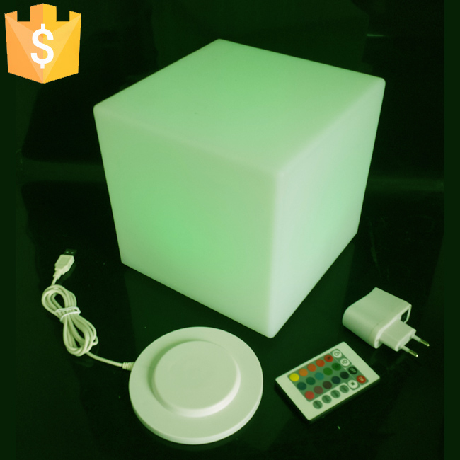 20cm Diameter led cube Stool bar stools light up cube Garden Working Set led club furniture free shipping 12pcs(China (Mainland))
