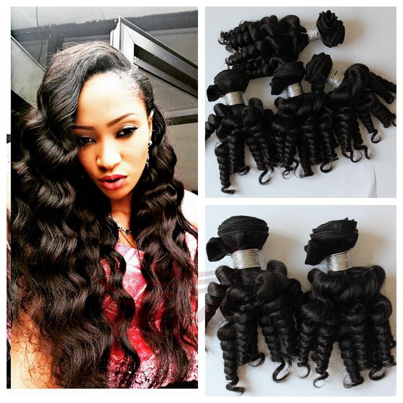7A Grade unprocessed Aunty Funmi Hair Cheap Price Funmi Hair 3pcs Virgin Brazilian Hair Weaves Tip Aunty Funmi Bouncy Curls<br><br>Aliexpress