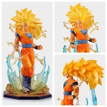 Dragon Ball Z Action Figures Figuarts ZERO Son Goku Super Saiyan 3 Anime Dragon Ball Z Figures 18cm DBZ Esferas Del Dragon Toy (China (Mainland))