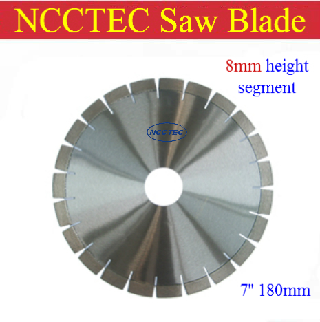 [8mm height segment] 7'' diamond CONCRETE dry saw cutting blade   180MM cement road saw blade FREE FAST SHIPPING(China (Mainland))