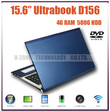 DHL/EMS Free 15.6″ Dual Core Laptop 1.86GHz Atom D2500 500GB HDD 4GB RAM DVD Windows7 OS HDMI Wifi Bluetooth 1.3 Webcam