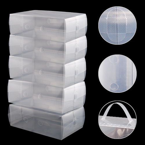FJS Wholesale 5 x Clear Plastic Mens Shoe Storage Boxes Containers Size 8 9 10 11(China (Mainland))