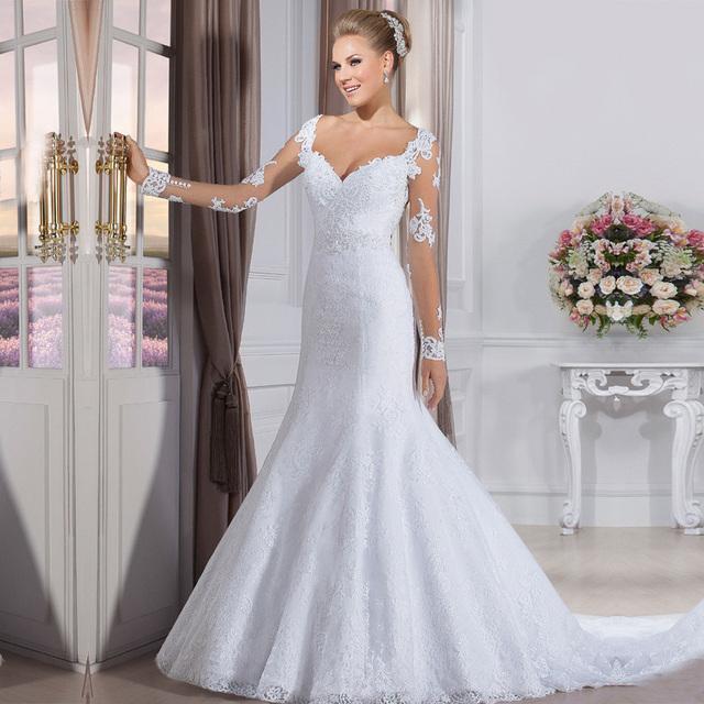 Vestido de noiva cheap fashion wedding gowns china bride for Wedding dresses near me cheap