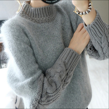 2015 New Arrival Autumn Winter Women Thick Wool Sweaters Female Knitted Pullovers Turtleneck Woolen Cashmere Sweater A924(China (Mainland))