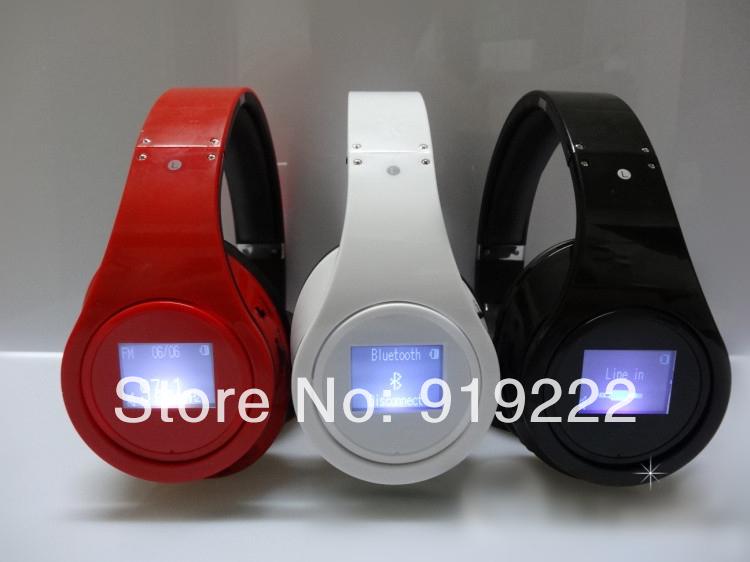 Promotion Stylish Foldable TF card FM Radio Bluetooth headset Wireless Headphones Good Bass Screen - DDING store