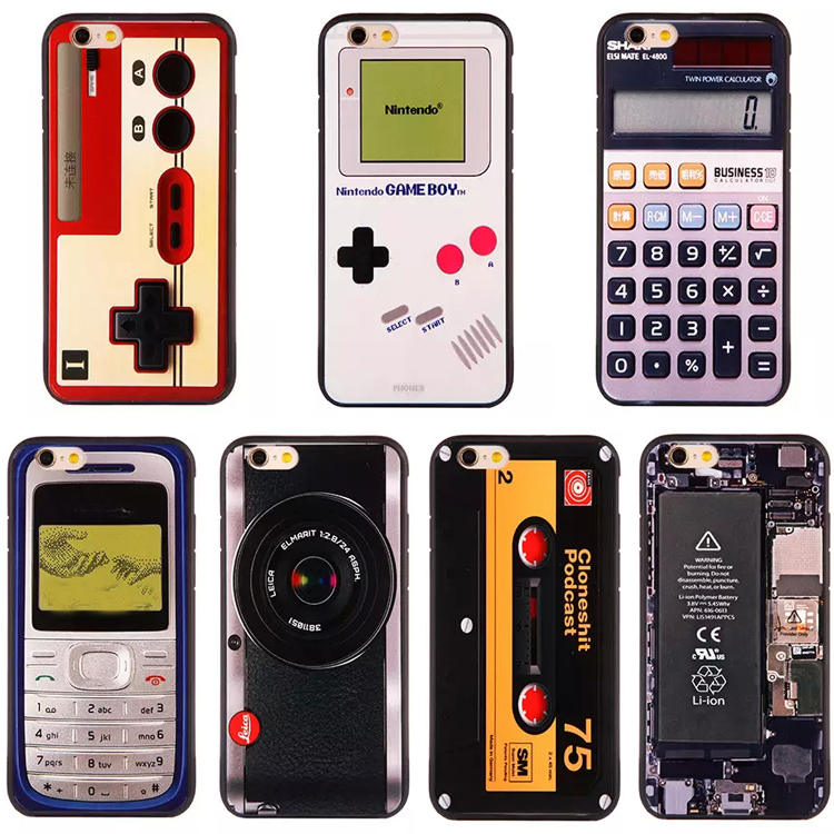 Retro Classical Boy Game Camara Cassette 3D Cartoon Printed Cases for Apple iPhone 6 6s plus 6plus 5 5g 5s se Cell Phone Cases(China (Mainland))