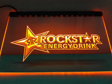 LE228- Rockstar Energy Drink Beer Bar LED Neon Light Sign(China (Mainland))