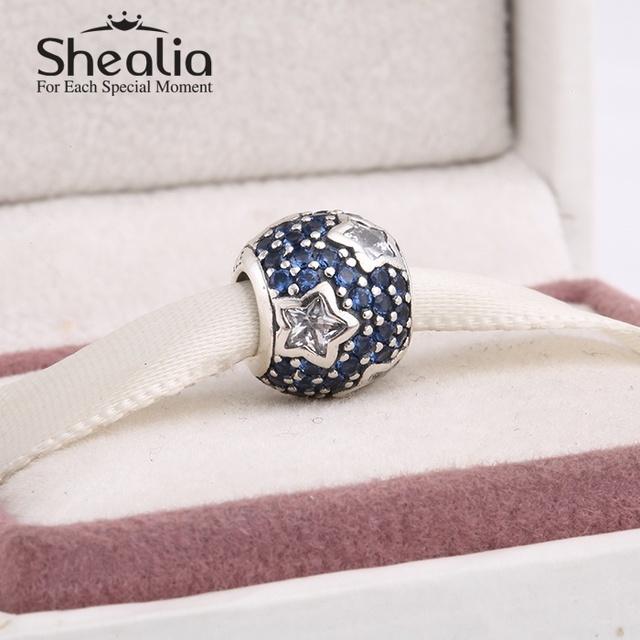2014 новый стерлингового серебра 925 игристые рождественская звезда проложить cz шар подвески для женщин известный браслеты сделай сам ювелирное Er424