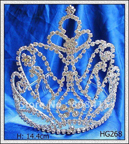 Free Shipping Rhinestone Crystal Diamond Tiara Crown for Wedding/Bridal/Pageant / Hair Jewelry Factory Wholesale