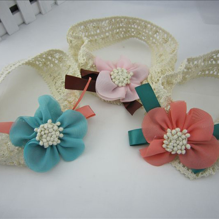 2016 Fashion New Arrival Baby Girl's Lace Flower Infant Hairband Charming & Fine Headwear Hair Accessories Drop Shopping(China (Mainland))