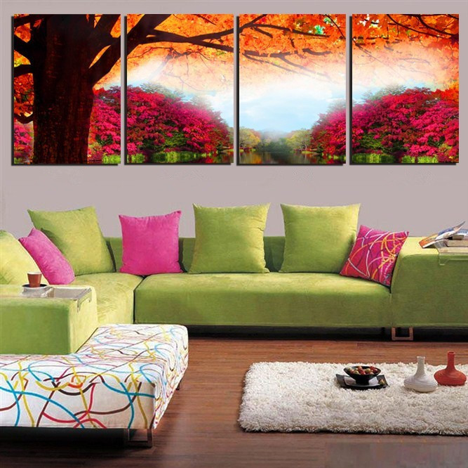 Apartment wall canvas: living room trends home design and decor ...