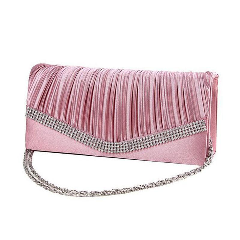 Popular Clutches Women Evening Bags Silvergoldblack Rhinestones Messenger