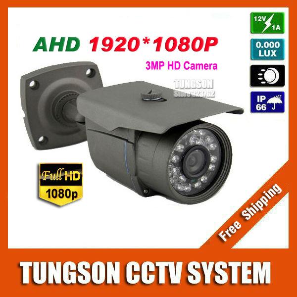 NEW Full HD AHD 1920P CCTV Camera Outdoor Waterproof Bullet Night Vision IR Super 3MP Security Surveillance Free Shipping(China (Mainland))