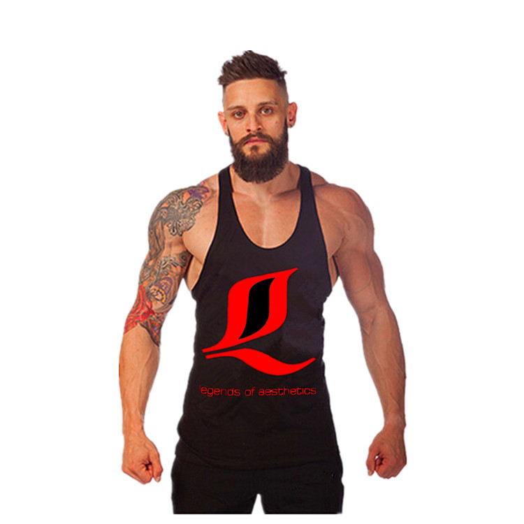 Wholesale Cotton Muscle Dog Gym LOA Men Bodybuilding Tank Top Fitness World of Tank Animal Gym Undershirt Luxe Stringer Vest Men(China (Mainland))
