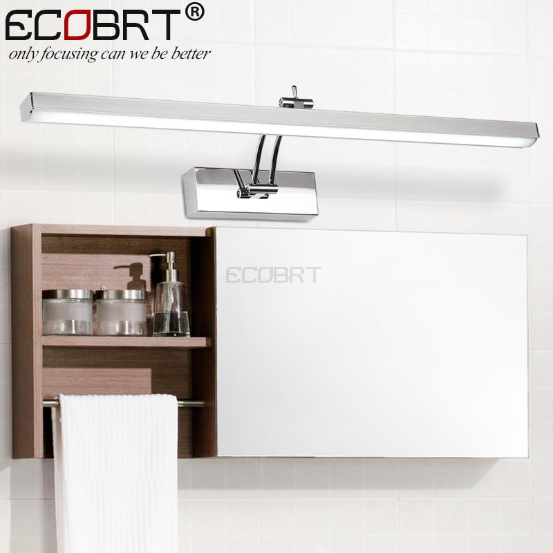 [ECOBRT] Indoor LED Bathroom Lights Wall Mounted Modern 12W LED Wall Lamps for Home Picture Lights Sconces AC 110 / 220V(China (Mainland))