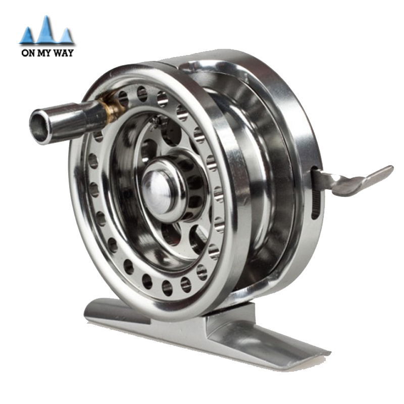 New all-metal Machined Aluminum Fly Fishing Reel 50mm 4#/65m Left Right Handed ice fishing reel(China (Mainland))