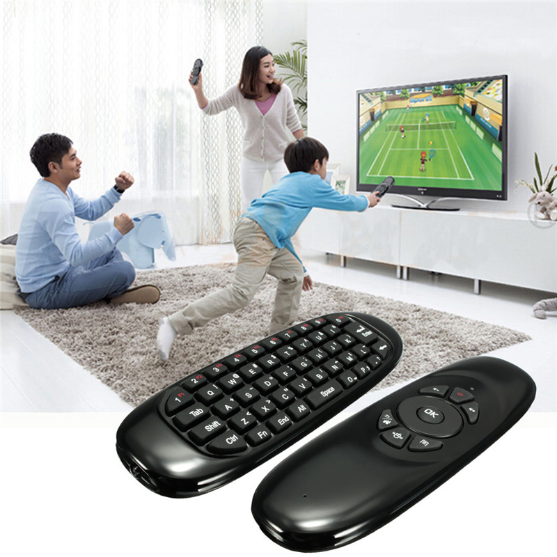 2016 High Quality Rechargeable 2.4G Mini Wireless Remote Control Keyboard Fly Air Mouse 10M Distance For Xbmc PC Android TV Box(China (Mainland))