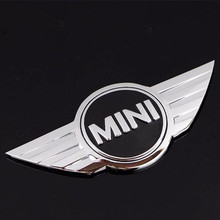 Metal 3D Car Stickers Emblems Front Badge Logo with 3M sticker fit for Mini Cooper (China (Mainland))