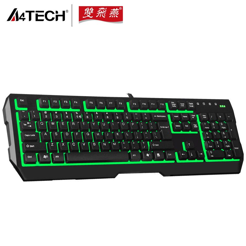A4TECH K150 PS2 Port Backlit Wired Waterproof Keyboards for Home/Office PC Computer Free Shipping(China (Mainland))