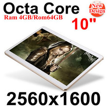 "10"" tablet IPS Screen 2560*1600 Octa Core MTK6592  3G 4G Phone Call 4GB/ 64GB Dual SIM 8.0MP Android 4.4 Bluetooth GPS Tablet PC(China (Mainland))"
