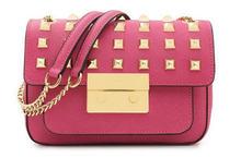 24*16CM Women's classic fashion Rivet chain Shoulder Bag PU Leather Small Bag messenger bag