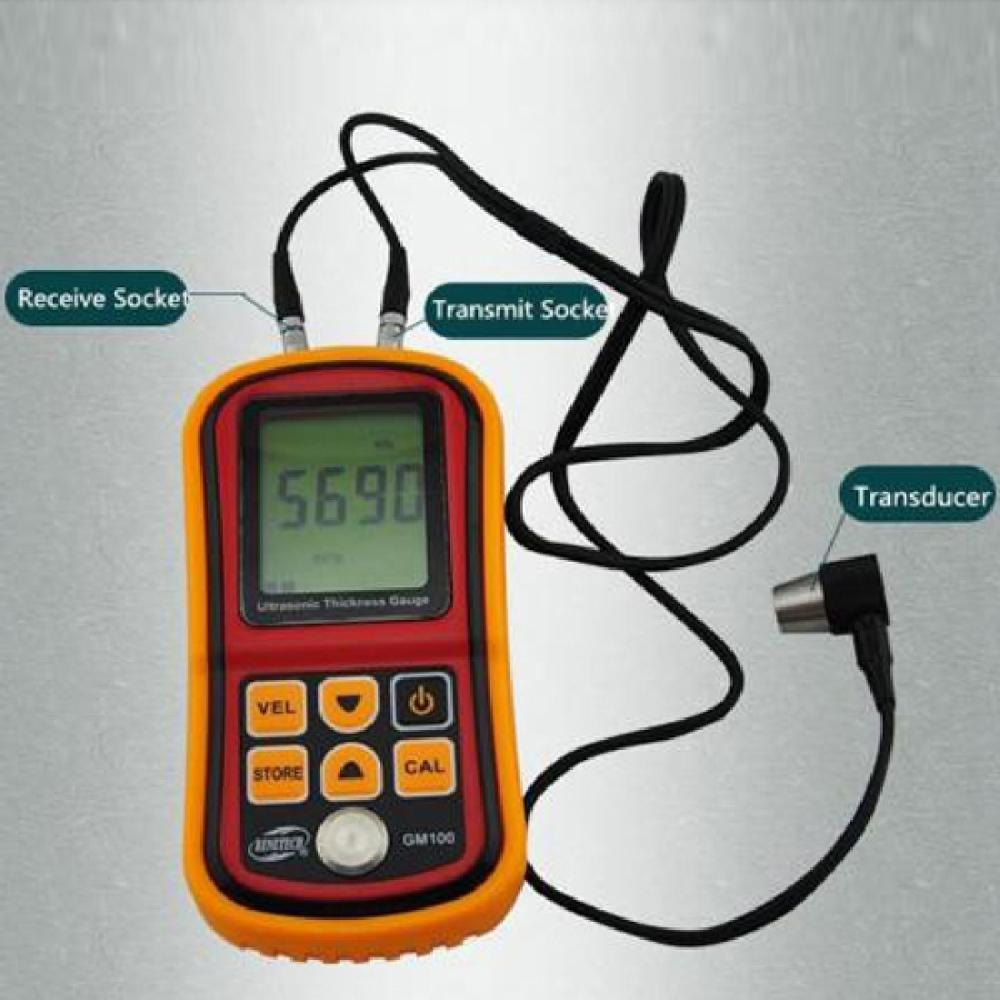 GM100 Ultrasonic Wall Thickness Gauge thickness Meter Tester Steel PVC Digital Testing<br><br>Aliexpress
