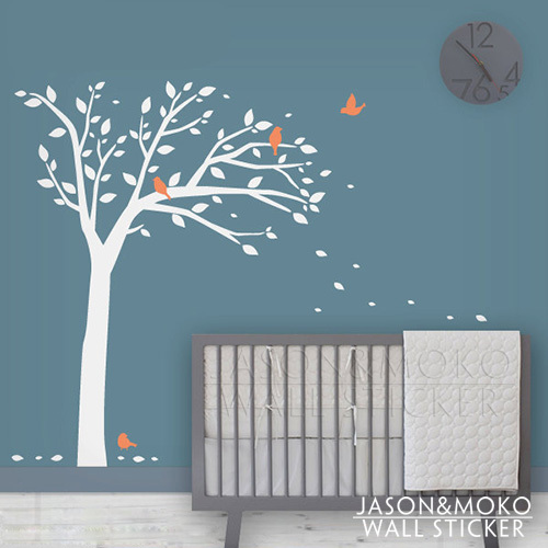 Bird Tree Wall Decal - Children Wall Stickers - Modern Baby Nursery Wall Art 160*210CM Free shipping(China (Mainland))
