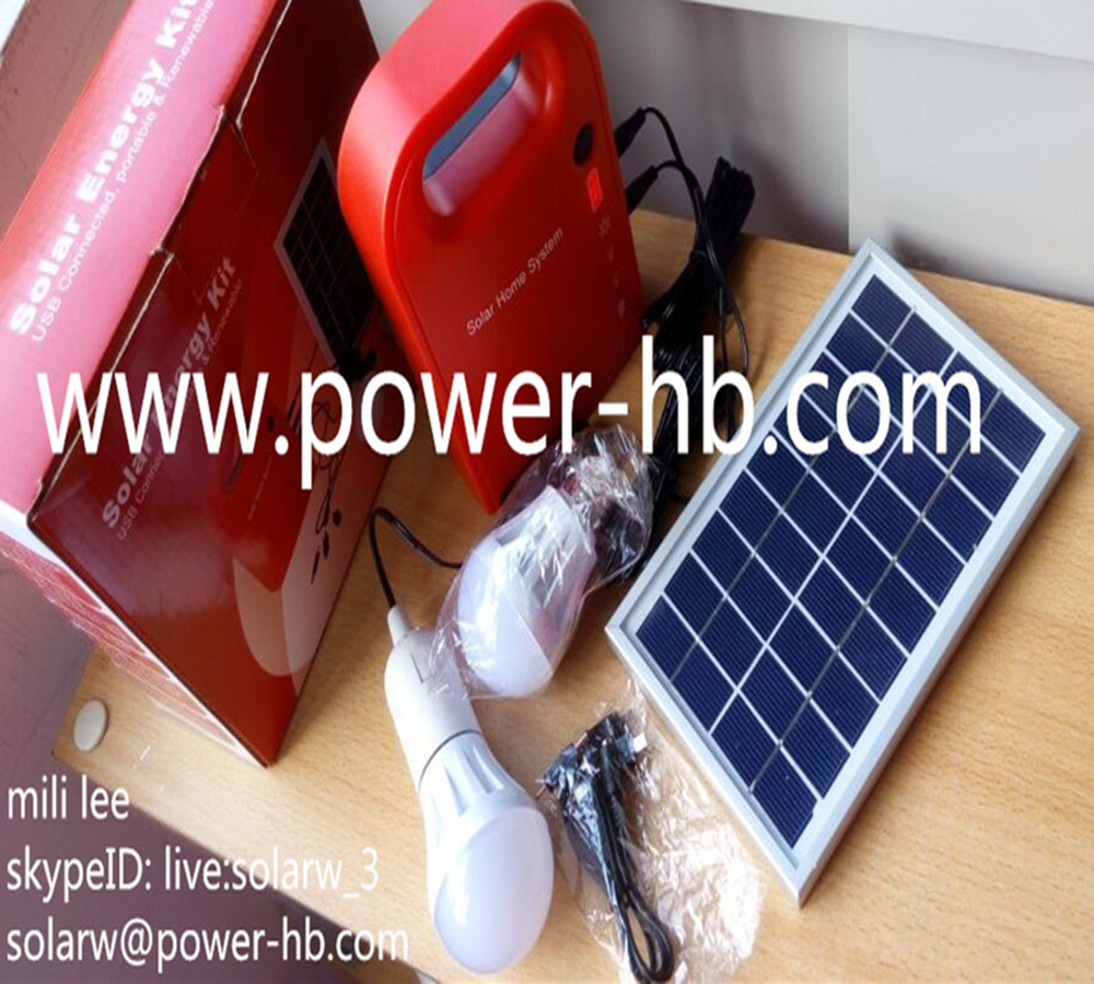 3W Solar Power System Portable Solar Generator For Light And Mobile Charging Free Shipping(China (Mainland))