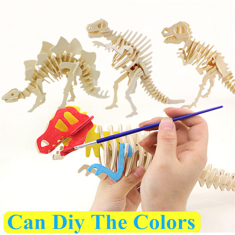 3d three-dimensional wooden animal jigsaw puzzle toys for children diy handmade jigsaw puzzles Animals Insects Series JM825002(China (Mainland))