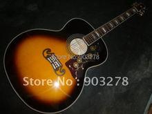 J200 sunburst acoustic electric guitar popular with fishman equalizer(China (Mainland))