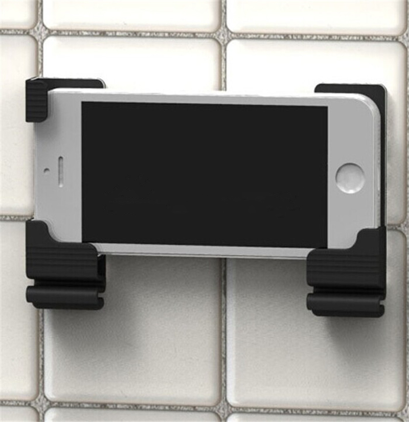 Black Novel Wall Mount Stand Holder For Mobile Phone Air For iPad Tablet Portable(China (Mainland))