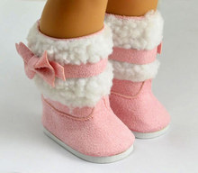 """Doll clothes,doll accessories, lovely Pink doll shoes for 18"""" inch american girl doll ,christmas gift free shpping(China (Mainland))"""