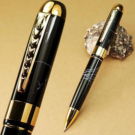 Jinhao black fabulous marbled roller ballpoint pen stationery office school supply free shipping<br><br>Aliexpress