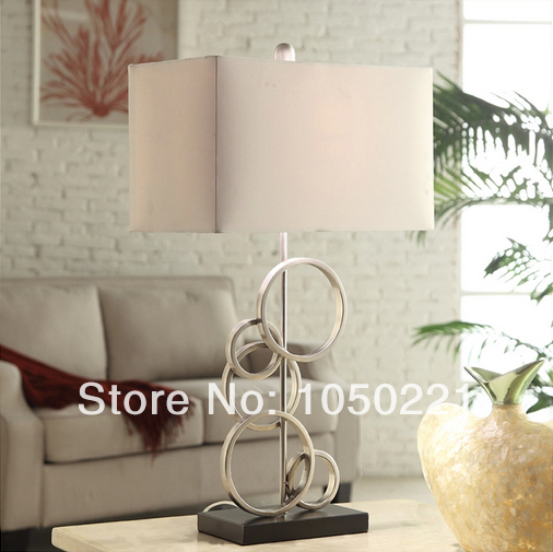 Modern Brief Table Lamps Modern American Country Style Fabric Desk Lamp Living Room Bedroom Table Lamps Desk Lights(China (Mainland))