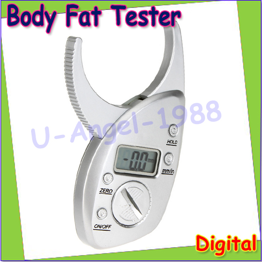 Wholesale 1pcs Health Care Mini Digital LCD Body Fat Caliper Tester Scales Machine Skin Fold Analyzer Meter With Data Hold