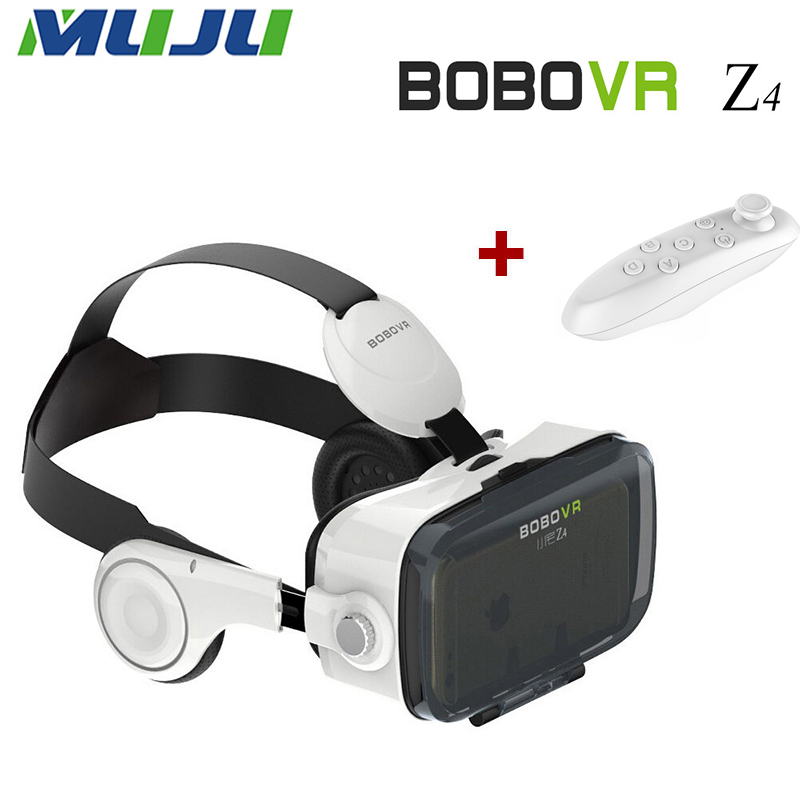 100pcs/lot New BOBO VR Z4 4.0-6.0 inch Virtual Reality 3D Movies Games Glasses+Bluetooth Remote Control for Google HTC LG etc.(China (Mainland))