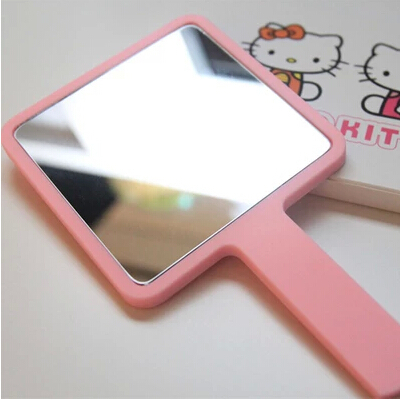 2015 new professional makeup mirror light cute small wall cosmetic mirror covient pink girl hello kitty espelho hot sale(China (Mainland))