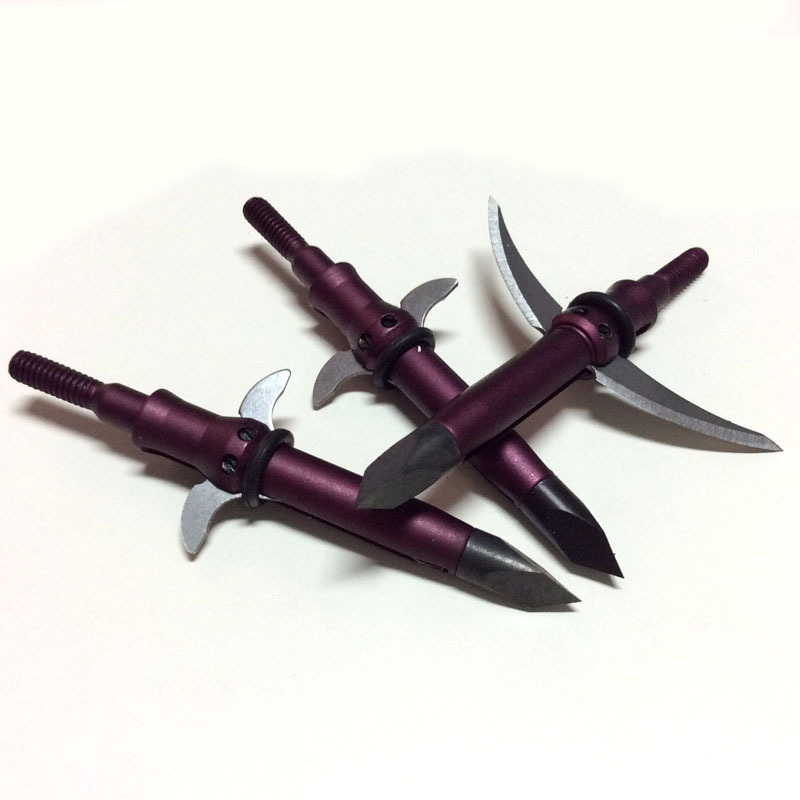 AXE Bone Crusher Expandable Broadhead Steel Blades 100GR 2 expandable blade 3pcs