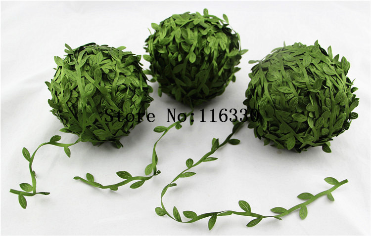 10m Artificial Green Flower Leaves Rattan DIY Garland Accessory For Home Decoration